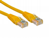 Short 0.2m Ethernet Network Cable - RJ45 Plugs / CAT5e / Yellow